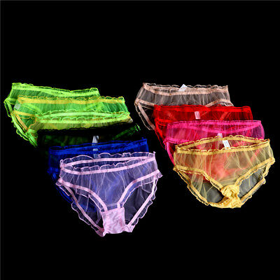 a1bf54d2f3a26 Transparent Lace Panties Sexy Ladies Plus Size Sheer Underwear Briefs  Underpa JH