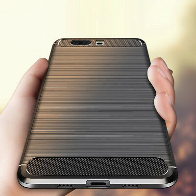 For Huawei Honor 10 9 8 Lite 7A 6A Slim Fiber Carbon Silicone Rugged Case Cover