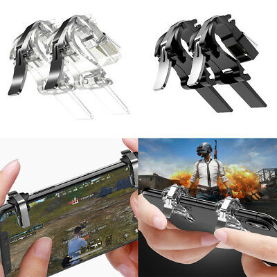 2PCs Mobile Phone Gaming Fire Button Trigger Handle Shooter Controller PUBG NEW