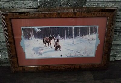 Vintage Homco Indian Picture Home Interior