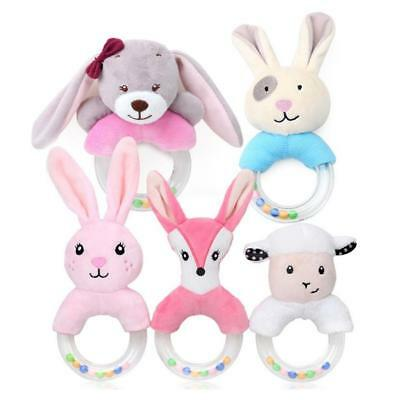 Kids Baby Infant Plush Rattles Toy Cute Animal Rabbit Sheep Shake Bell Doll Toys