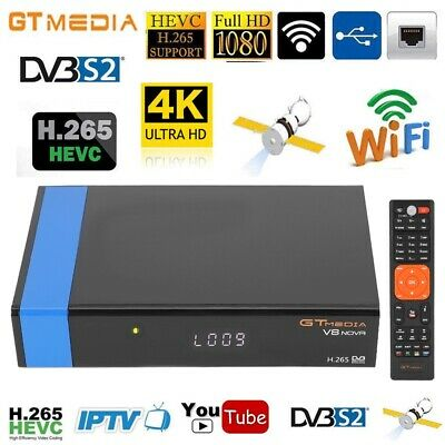 Gtmedia V8 Nova DVB-S2 Freesat Satellite Receiver Built Wifi Full HD 1080P LL