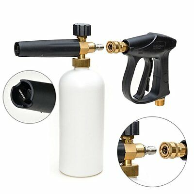 "1/4"" Snow Foam Lance Foam Cannon Pressure Washer Wash Spray Gun Adjustable Foam"