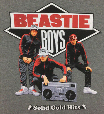 Beastie Boys T-Shirt Solid Gold Hits Graphic Tour Concert Rap Hip Hop Retro XL