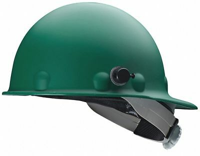 Front Brim Hard Hat, 8 pt. Ratchet Suspension, Green, Hat Size: 6-1/2 to 8