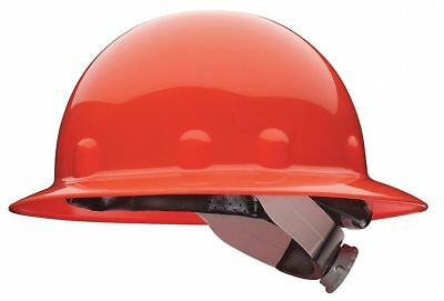 Full Brim Hard Hat, 8 pt. Ratchet Suspension, Orange, Hat Size: 6-1/2 to 8
