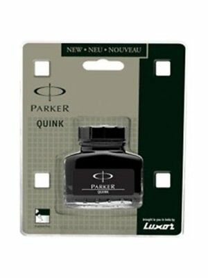 Parker Quink Ink Bottle In Black Color For Fountain Pen 30Ml Free Shipping New
