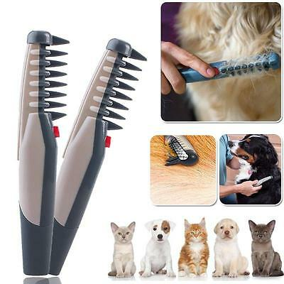 Electric Pet Grooming Flea Comb Dog Cat Knot Out Hair Trimmer Tangles Tool Brush