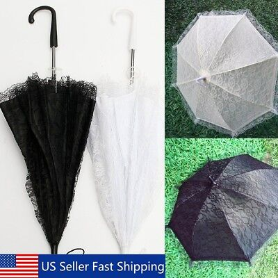 "22"" Lace Flower Kid Girl Parasol Bridal Wedding Party Sun Umbrella Decoration US"