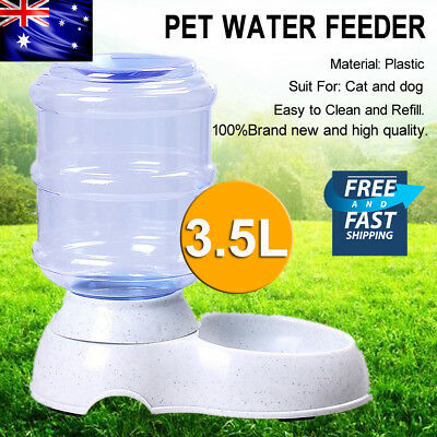 3.5Liters Automatic Pet Dog Cat Water Bowl Water Feeder Bottle Dispenser Plastic
