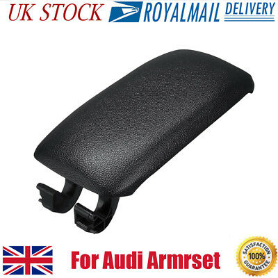 For Audi A3 8P 2003-2013 Leather Center Console Armrest Lid Cover Black UK Stock