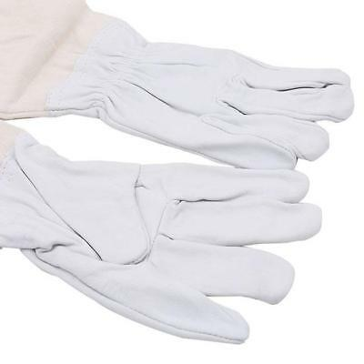 Beekeeping Bee Gloves Soft White Goats Sheepskin Canvas Gauntlets C