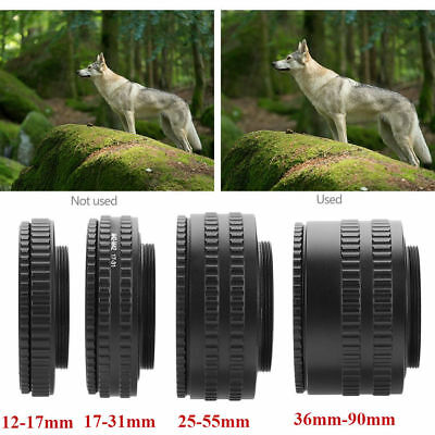 M42 to M42 Adjustable Focusing Helicoid Adapter 12-17mm/17-31mm/25-55mm/36-90mm