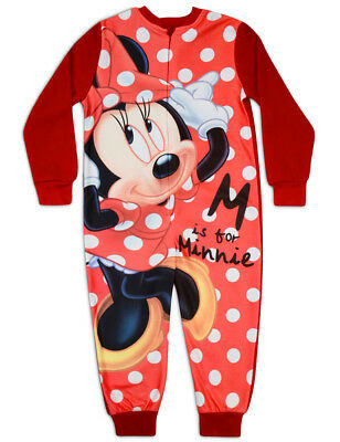 Minnie Mouse Sleepsuit Girls Disney All In One 6-7 7-8