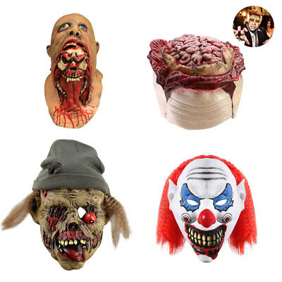 Halloween Latex Horror Vollgesichtsmaske Scary Kostüm Zombies Clown Kopf Maske