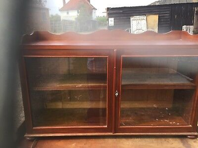 edwardian Mahogany Counter Top Display  Case Or Tabletop Display Case