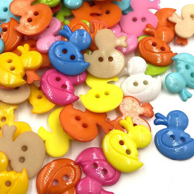 100pcs Plastic Duck Button Sewing Buttons Kid's Craft PT148