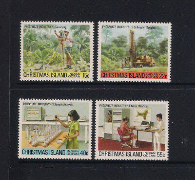 Christmas Island 1980 Phosphate Industry 1 Complete Set 4 - Muh Superb