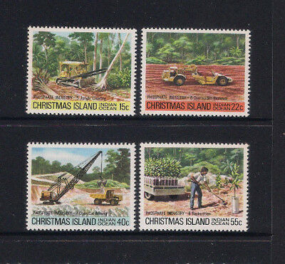 Christmas Island 1980 Phosphate Industry 11 Complete Set 4 - Muh Superb