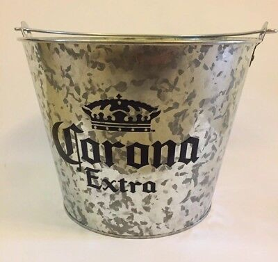 Galvanized Corona Extra Beer Drink Bucket Barware Ice Bucket Cooler