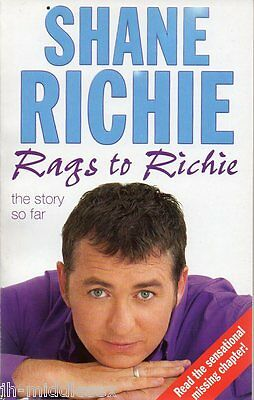 Shane Richie - Rags To Richie - Softback Book Signed  - Handsigned - AFTAL