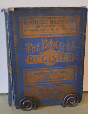 Numismatic reference book, The Bankers Register, Jan. 1909, antique maps