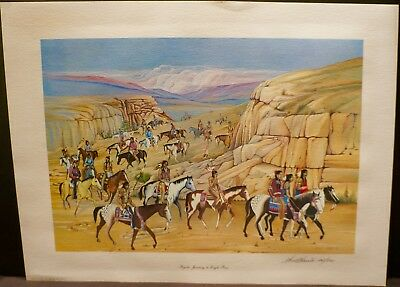 "Native American Indian Print: ""PEYOTE JOURNEY TO EAGLE PASS"" by WALT HARRIS"