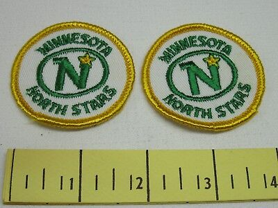 Minnesota North Stars Vintage Patches 1970's Cloth Two Inch New Old Stock