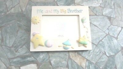 "Russ Baby Picture Frame ""Me and My Big Brother"""