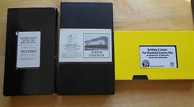 Building A Layout The Woodland Scenics Way,rails Canada, Rr W/the Rio Grand  Vhs