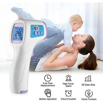 Non-Contact IR Infrared Digital Thermometer Forehead Temperature Baby Adult Body