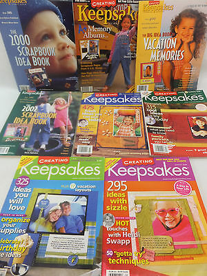Creating Keepsakes Magazine Scrapbook Ideas Back Issues Lot of 8 2003 2004
