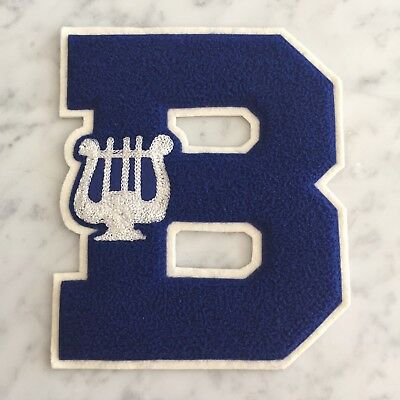 Music Symbol Musician Band Sew On Capital Letter B Letterman School Jacket Patch
