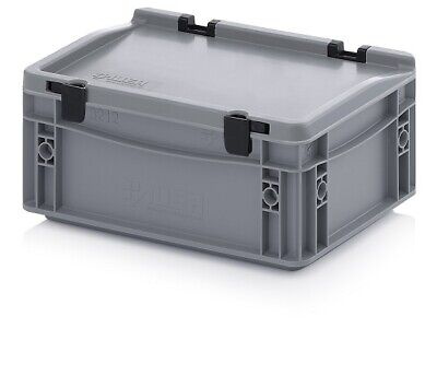 Euro Containers 30x20x13, 5 with Lid Stacking Lagerbox Stapelbox 300x200x135