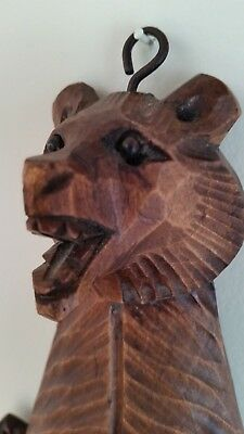 "Antique Black Forest carved Bear Puppet /toy Stands 10""/25.5cm  tall. V.G.C."