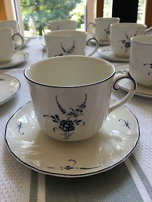 Villeroy and Boch Vieux Luxembourg SET OF 9  Cups And Saucers. NEW