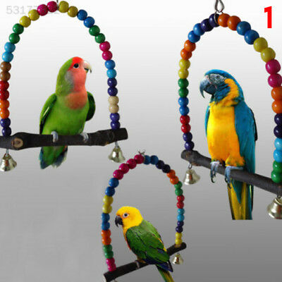 ED6A Swing Bird Toy Parrot Cage Toys Parakeet Cockatiel Lovebird Budgie Pet Supp