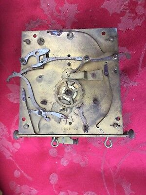 Gustav Becker Double Weight Vienna Regulator Movement Spares Or Repair