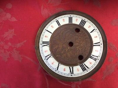 Vienna Regulator Enamel  Dial Bezel Red Half Hour Markers 145mm