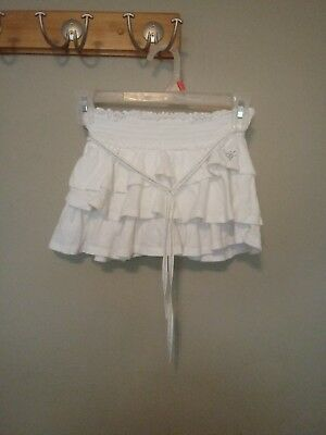 Justice, Ruffled Skirt, White, Size 7