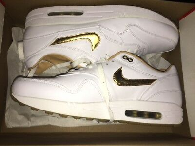 new products e1674 e53fa NIKE Air Max 1 One FB Woven Neu leather WhiteGold Gr47,