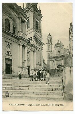 CPA - Carte Postale - France - Menton - Eglise de l'Immaculée Conception