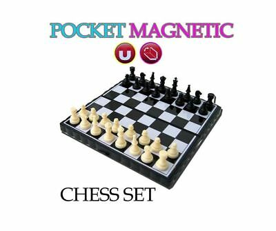 New Mini Magnetic Pocket Size Chess Travel Board Games Toys Compact Fun Modern
