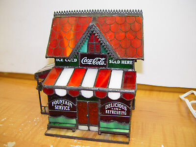 Franklin mint Coca Cola stained glass corner store