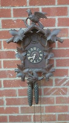Large Antique Cuckoo Clock  30 Hour Working Order