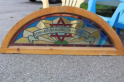 Arched Top Antique Victorian Stained Glass Window Architectural Salvage Church