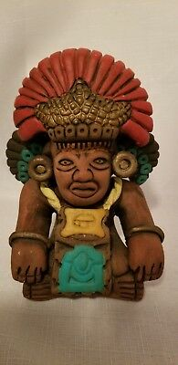 Pre Columbian Pottery Reproduction Mayan gods chief