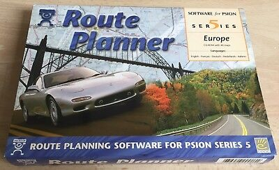 Psion Route Planner Europe Software For Series 5 5Mx & Ericsson Mc218