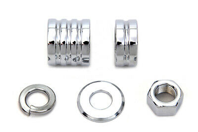 Front Axle Spacer Kit Groove Style Chrome,for Harley Davidson motorcycles,by ...