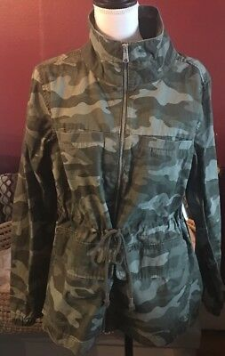 Old Navy Women's Camo Olive Green  Field Jacket Size L NEW!
